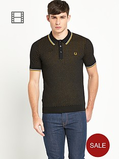 fred-perry-mens-black-textured-knitted-polo-shirt