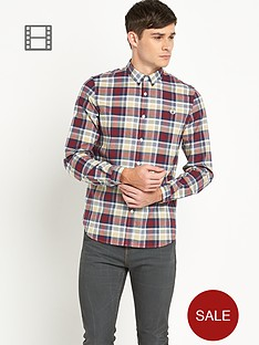 fred-perry-mens-polka-dot-check-shirt