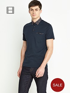 ted-baker-mens-short-sleeve-floral-woven-collar-polo-shirt