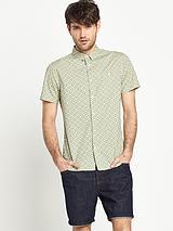 Mens Short Sleeve Geo Print Shirt