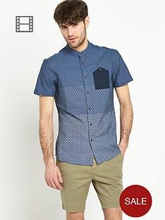 goodsouls-mens-print-grandad-denim-shirt