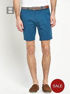 goodsouls-skinny-stretch-chino-shorts-with-belt