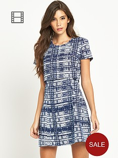 fashion-union-2-in-1-checked-dress