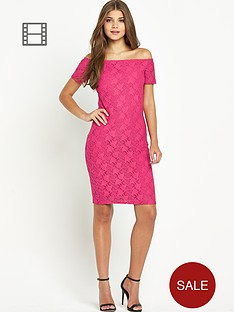 club-l-lace-bardot-dress