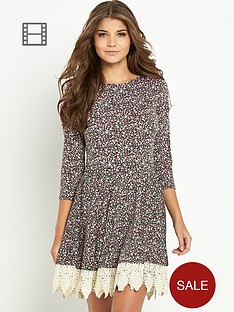 club-l-boho-crochet-trim-dress