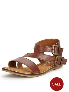 firetrap-lyla-leather-flat-sandals
