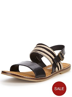 firetrap-isha-leather-zebra-flat-sandals