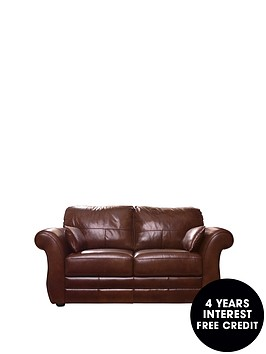 Vantage 2 seater leather sofa for Sofa 0 interest free credit