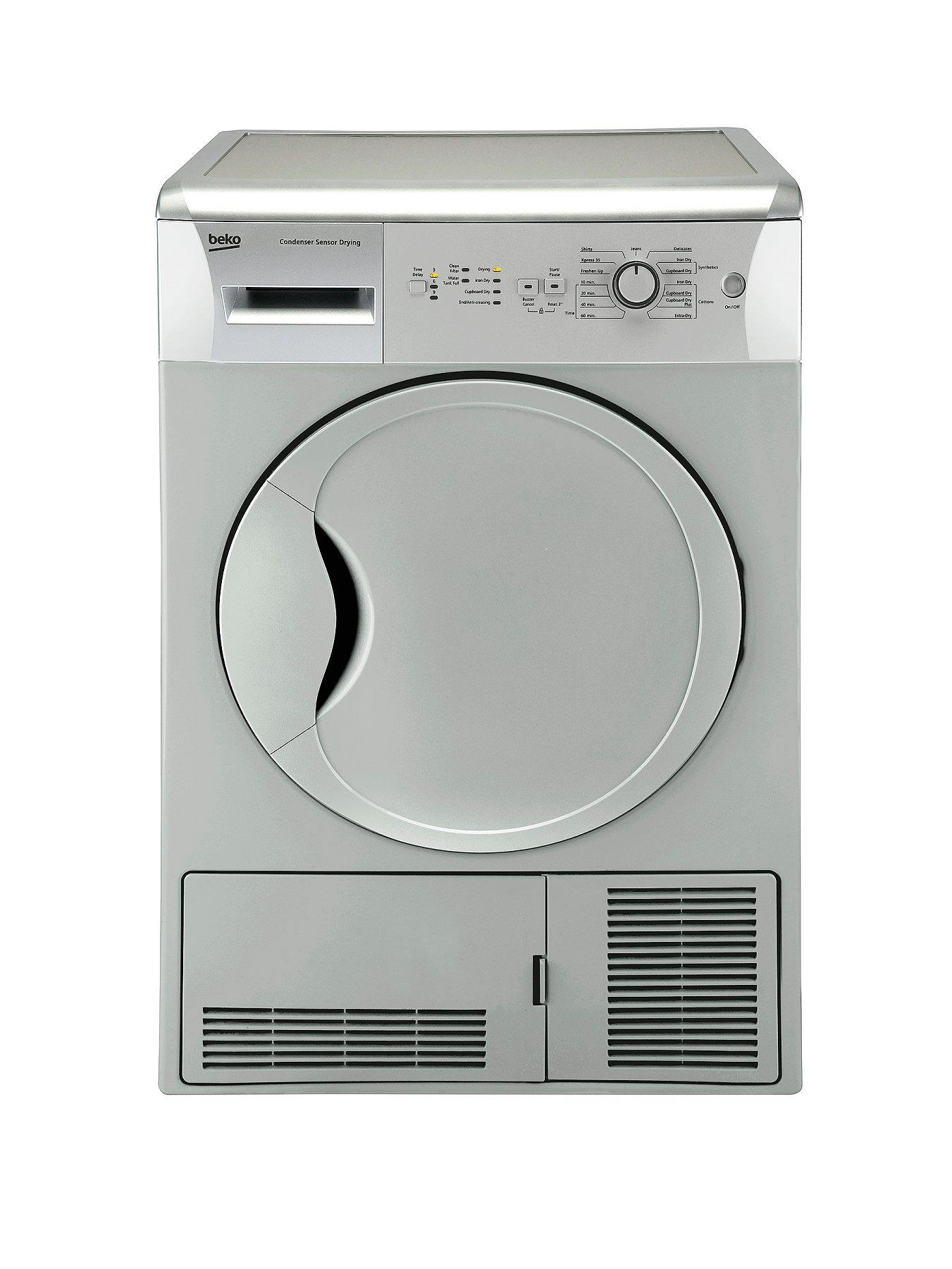 7kg Load Sensor Condenser Dryer - Silver (Next Day Delivery)