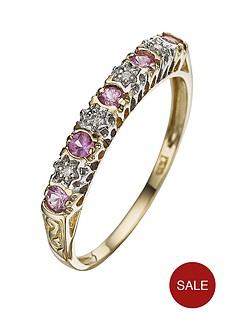 love-gem-9-carat-diamond-and-pink-sapphire-eternity-ring