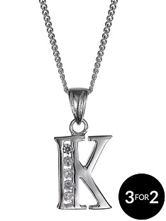the-love-silver-collection-sterling-silver-and-cubic-zirconia-initial-pendant