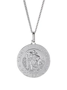 love-silver-sterling-silver-st-christopher-pendant