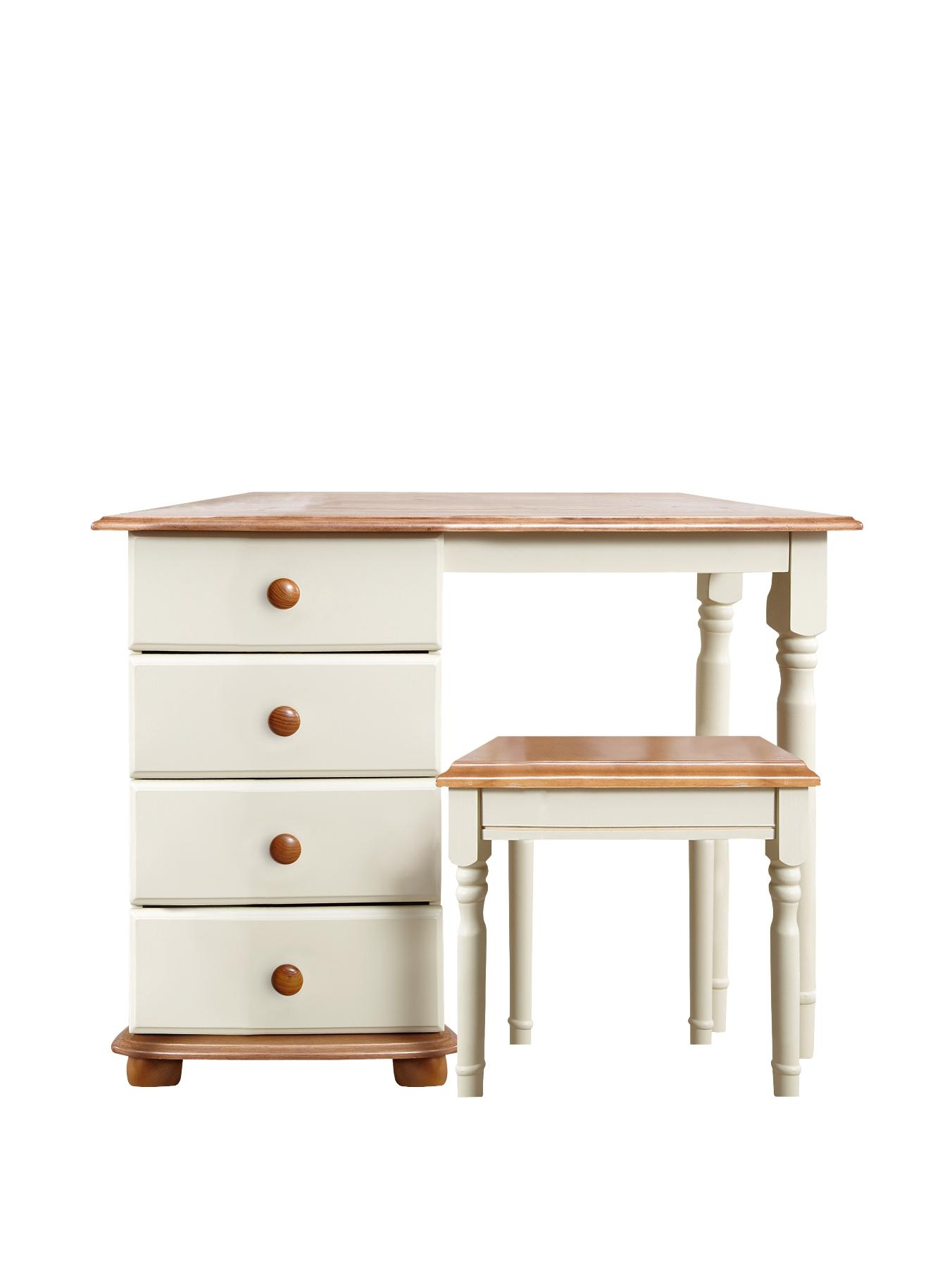 Darlington Dressing Table and Stool Set, Cream
