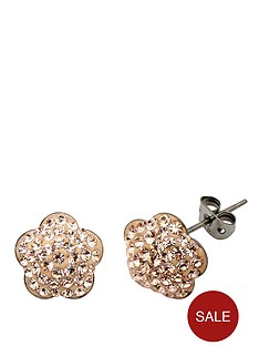 tresor-paris-8-mm-flower-gold-crystal-earrings