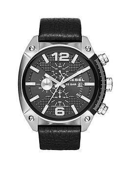 diesel-overflow-black-dial-and-stainless-steel-black-leather-strap-mens-watch