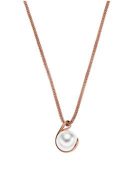skagen-agenthe-pearl-rose-gold-tone-pendant-necklace