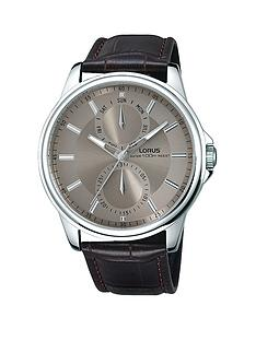 lorus-multi-grey-dial-black-leather-strap-mens-watch