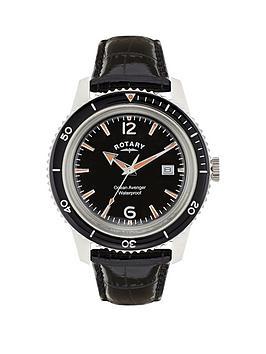 rotary-ocean-avenger-stainless-steel-case-black-dial-black-leather-strap-mens-watch