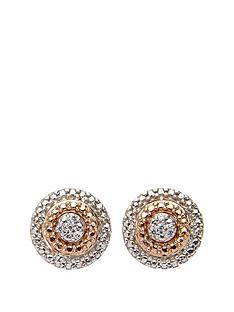 the-love-silver-collection-9-carat-rose-gold-and-sterling-silver-diamond-set-circle-earrings