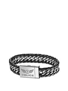 police-attack-mens-leather-and-stainless-steel-bracelet