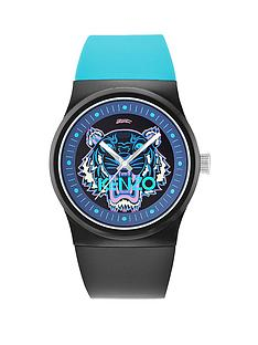 kenzo-tiger-head-dial-black-and-blue-strap-unisex-watch