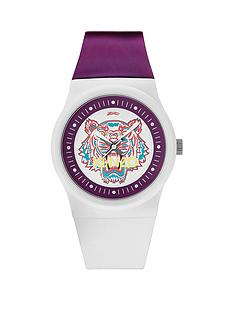 kenzo-tiger-head-dial-white-and-purple-strap-unisex-watch