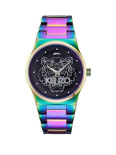 kenzo-tiger-head-dial-stainless-steel-rainbow-bracelet-unisex-watch