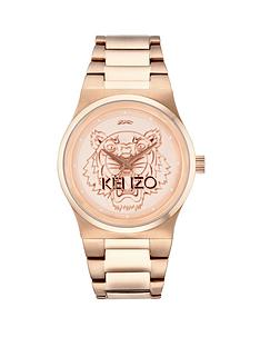 kenzo-tiger-head-rose-gold-tone-stainless-steel-bracelet-unisex-watch