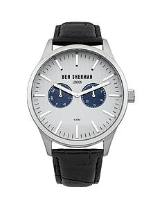ben-sherman-silver-tone-dial-black-leather-strap-mens-watch