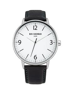 ben-sherman-black-leather-strap-mens-watch