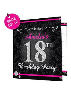personalised-bling-birthday-invitations-pack-of-10