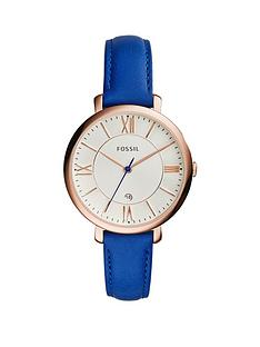 fossil-jacqueline-rose-gold-tone-mini-case-blue-leather-strap-ladies-watch