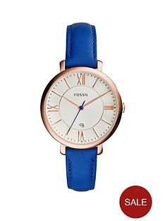 fossil-jacqueline-rose-gold-tone-mini-case-blue-leather-strap-ladies-watch