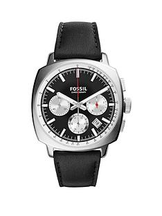 fossil-haywood-chronograph-stainless-steel-black-leather-strap-mens-watch