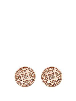 fossil-rose-gold-tone-signature-earrings