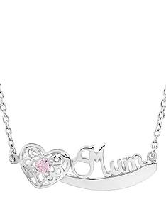 the-love-silver-collection-personalised-sterling-silver-cubic-zirconia-set-mum-nameplate-with-filigree-heart