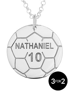 the-love-silver-collection-personalised-sterling-silver-football-mens-pendant