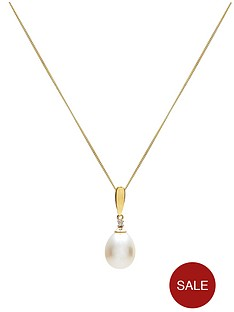 love-gold-9-carat-yellow-gold-diamond-and-white-freshwater-pearl-pendant