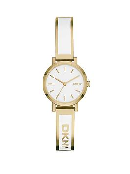 dkny-soho-gold-tone-stainless-steel-bangle-with-white-enamel-in-lay-ladies-watch