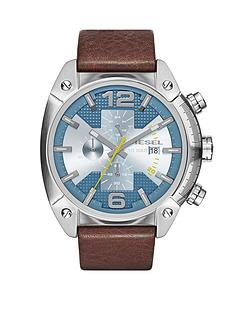 diesel-overflow-blue-dial-and-stainless-steel-brown-leather-strap-mens-watch