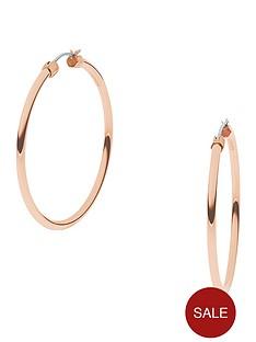 dkny-stanhope-rose-gold-tone-stainless-steel-hoop-earrings