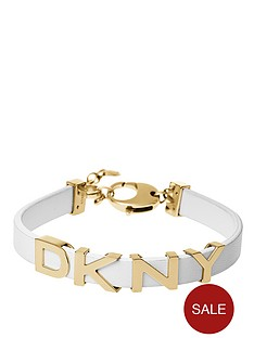 dkny-parsons-gold-tone-dkny-logo-white-leather-bracelet