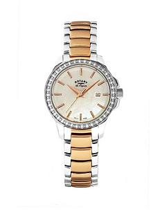 rotary-les-originales-ladies-two-tone-rose-gold-bracelet-watch-with-white-mother-of-pearl-dial-swiss-made