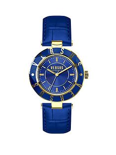 versus-versace-versace-logo-blue-face-gold-highlights-blue-leather-strap-ladies-watch