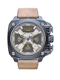 diesel-bamf-multi-dial-taupe-dial-and-blue-ip-with-light-brown-leather-strap-mens-watch