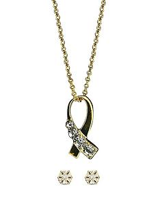 gold-tone-crystal-set-crossover-ribbon-pendant-and-solitaire-stud-earrings-set