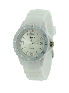 white-coloured-silicon-strap-unisex-watch