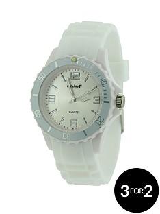 white-coloured-silicon-strap-unisex-watch