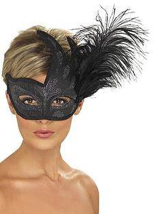 ornate-black-feather-mask