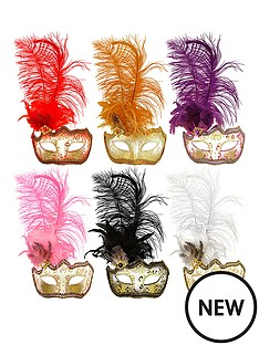 glitter-feather-masquerade-masks-pack-of-6